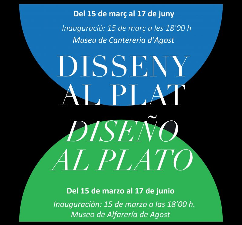 Agost Cartel Exposición Disseny Al Plat Br