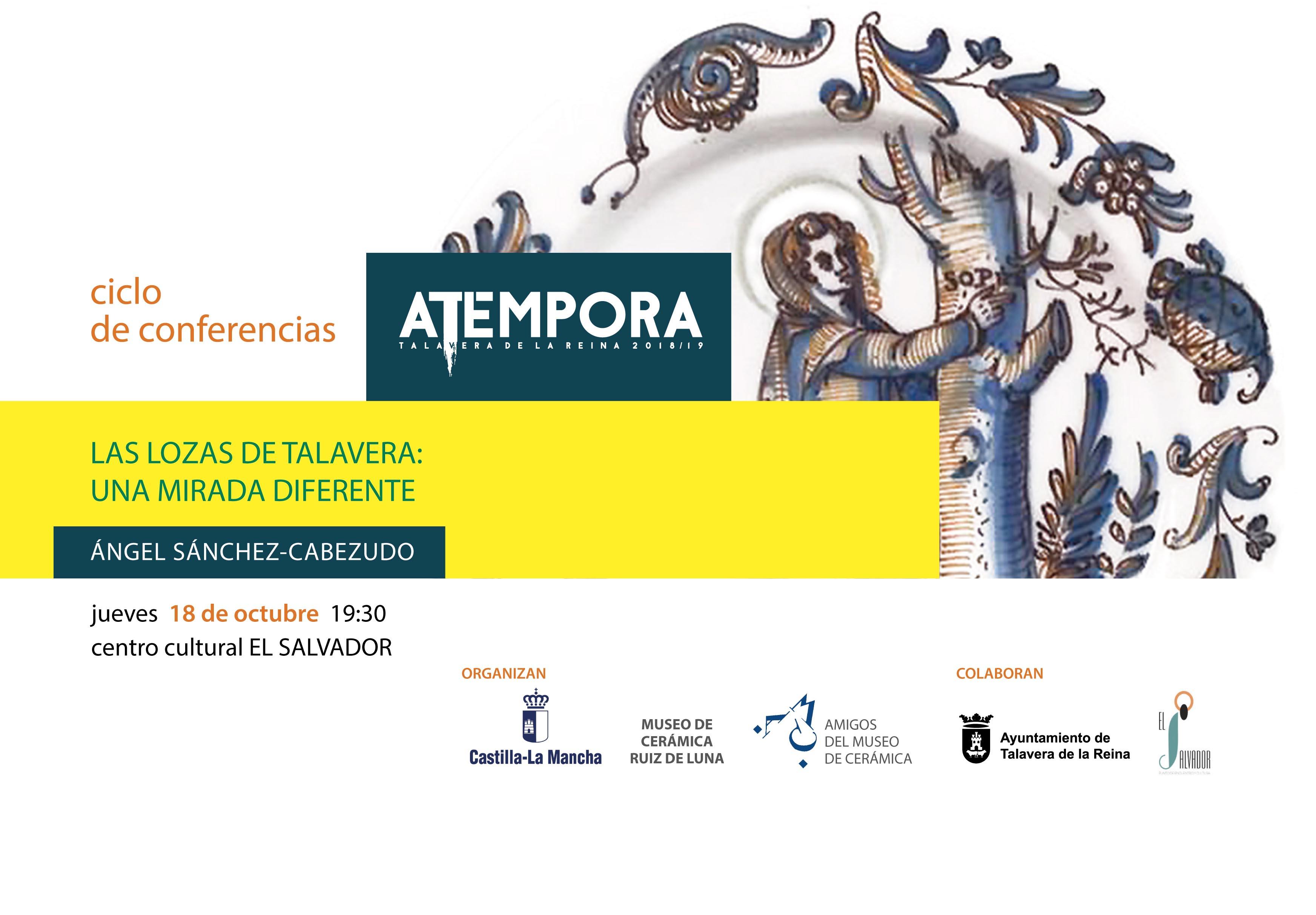 Talavera de la Reina – Del 18/10/2018 al 17/01/2019: Ciclo de conferencias aTEMPORA