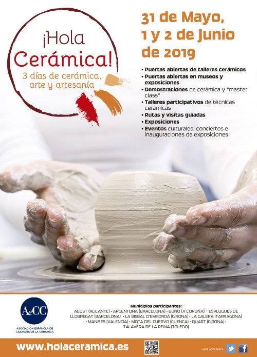 ¡HOLA CERÁMICA 2019! 31 De Mayo, 1 Y 2 De Junio – Actividades Programadas