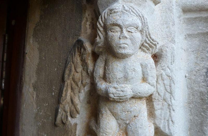Sant Sadurní De Palol D'Onyar, Detalle. S. XIV. Foto: Jordi S. Carrera.