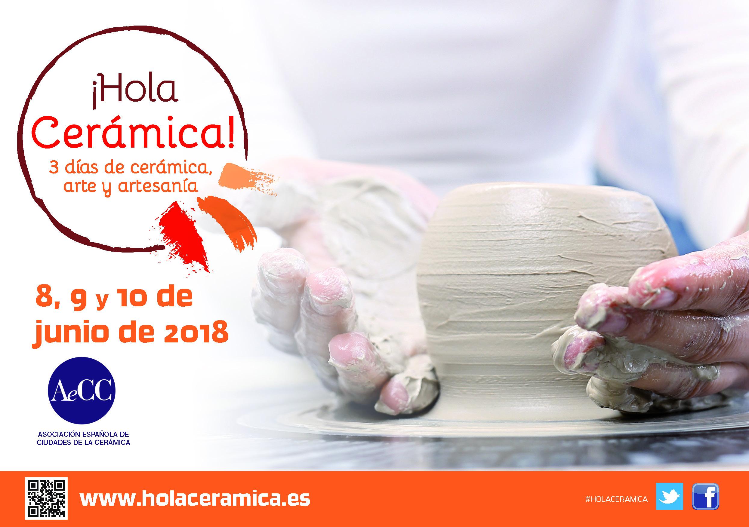 ¡HOLA CERÁMICA! 3 días de cerámica, arte y artesanía: 8, 9 y 10 de junio
