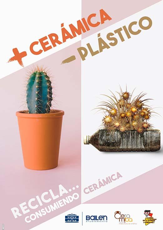 """Campaña """"Más Cerámica Menos Plástico"""" impulsada por el Ayuntamiento de Bailén"""